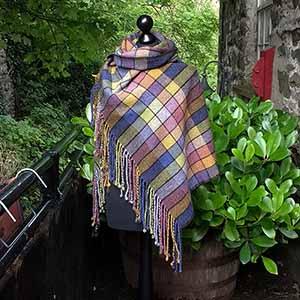 Diamond twill Shetland shawl