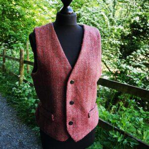 Waistcoat handwoven by Ali Sharman